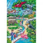 Schmidt-Spiele-56218 3 Jigsaw Puzzles - A day at the Zoo