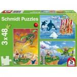 Schmidt-Spiele-56224 3 Jigsaw Puzzles - Viking