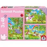 Schmidt-Spiele-56225 3 Jigsaw Puzzles - Princess