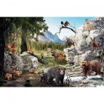 Puzzle  Schmidt-Spiele-56239 The animals of the forest