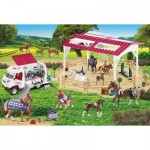Puzzle  Schmidt-Spiele-56240 Riding school and veterinarian