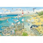 Puzzle  Schmidt-Spiele-56248 Animals by the sea