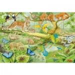 Puzzle  Schmidt-Spiele-56250 Animals in the rainforest