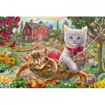 Puzzle  Schmidt-Spiele-56289 Kitten in the Garden