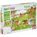 Puzzle  Schmidt-Spiele-56290 So leben Tierkinder (in German)