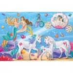 Puzzle  Schmidt-Spiele-56302 The Magic of the Mermaids