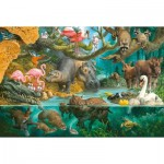 Puzzle  Schmidt-Spiele-56306 Animal Families on the Shore
