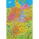 Puzzle  Schmidt-Spiele-56312 Map of Germany with Pictures