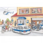 Puzzle  Schmidt-Spiele-56351 Police Helicopter