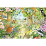 Puzzle  Schmidt-Spiele-56370 Animals of the Forest