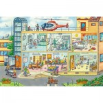 Puzzle  Schmidt-Spiele-56374 At the Children's Hospital