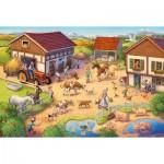 Puzzle  Schmidt-Spiele-56379 At the Farm