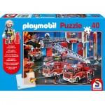 Puzzle  Schmidt-Spiele-56380 Playmobil Firebrigade