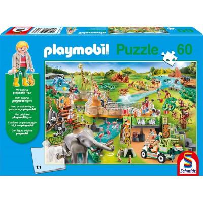 Puzzle Schmidt-Spiele-56381 Playmobil Zoo