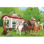 Puzzle  Schmidt-Spiele-56385 Club Meeting in Front of the Caravan