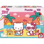 Puzzle  Schmidt-Spiele-56409 Hello Bath Fun with Kitty