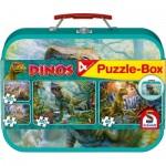 Schmidt-Spiele-56495 4 Puzzles - Dinosaurs