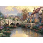 Puzzle  Schmidt-Spiele-57466 Thomas Kinkade - The Paved Bridge