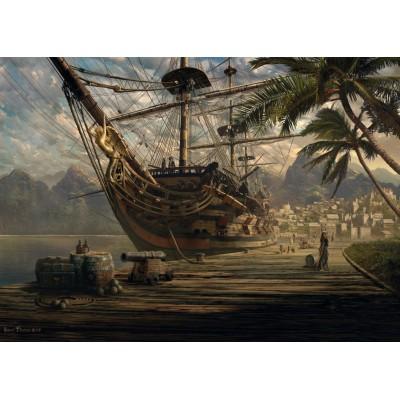 Puzzle Schmidt-Spiele-58183 Ship at anchorage