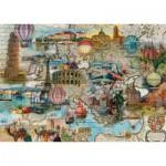 Puzzle  Schmidt-Spiele-58205 Europe in Balloon