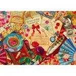 Puzzle  Schmidt-Spiele-58218 Vintage Love Letters