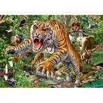 Puzzle  Schmidt-Spiele-58226 Tiger attack