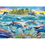 Puzzle  Schmidt-Spiele-58227 Reef the dolphins