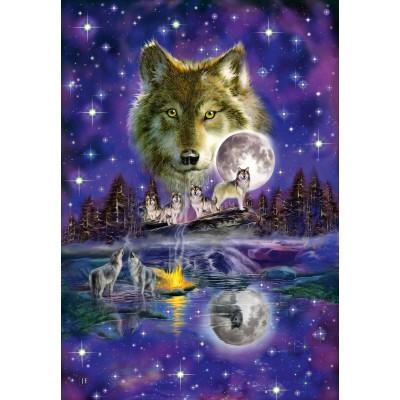 Puzzle Schmidt-Spiele-58233 Wolf Moonlight
