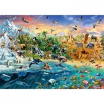 Puzzle  Schmidt-Spiele-58324 The world of Animals