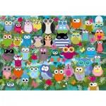 Puzzle  Schmidt-Spiele-58332 Owl Collage II