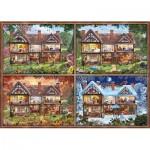 Puzzle  Schmidt-Spiele-58345 Seasons House