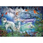 Puzzle  Schmidt-Spiele-58349 Wolves in the Winter Forest