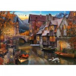 Puzzle  Schmidt-Spiele-58355 Home on the Canal