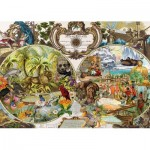 Puzzle  Schmidt-Spiele-58362 Exotic World Map