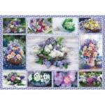 Puzzle  Schmidt-Spiele-58366 Bouquets of flowers