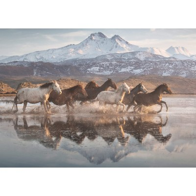 Puzzle Schmidt-Spiele-58376 Horses in Cappadocia