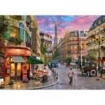 Puzzle  Schmidt-Spiele-58387 Street to the Eiffel Tower