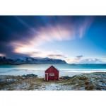 Puzzle  Schmidt-Spiele-58395 Cottage on the Altlantic