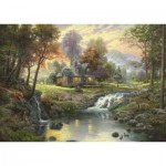 Schmidt-Spiele-58445 Jigsaw Puzzle - 1000 Pieces - Thomas Kinkade : Rosary