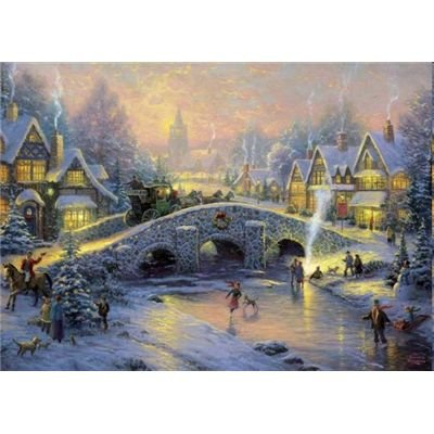 Schmidt-Spiele-58450 Jigsaw Puzzle - 1000 Pieces - Thomas Kinkade : Spirit of Christmas