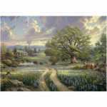 Schmidt-Spiele-58461 Jigsaw Puzzle - 1000 Pieces - Thomas Kinkade : Country Idyll