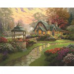 Puzzle  Schmidt-Spiele-58463 Thomas Kinkade: Home to the well