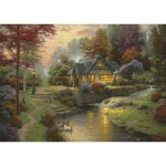 Puzzle  Schmidt-Spiele-58464 Thomas Kinkade: Peaceful evening