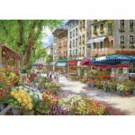 Schmidt-Spiele-58561 Jigsaw Puzzle - 1000 Pieces - Sam Park : Paris, Flowers Market
