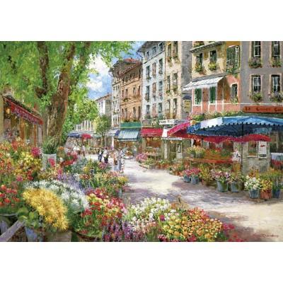 Schmidt-Spiele-58561 Jigsaw Puzzle - 1000 Pieces - Sam Park : Paris, Flowers Market