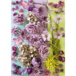 Puzzle  Schmidt-Spiele-58944 Purple Flowers