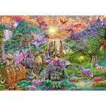 Puzzle  Schmidt-Spiele-58966 Enchanted Dragon Country