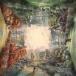 Puzzle  Schmidt-Spiele-59294 Thomas Kinkade: Victorian Garden