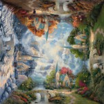 Puzzle  Schmidt-Spiele-59295 Thomas Kinkade: Chapel in the mountain