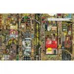 Puzzle  Schmidt-Spiele-59355 Colin Thompson: Fantastic Cityscape